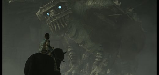 Fighting the Second Colossus in Shadow of the Colossus